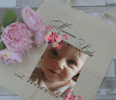 personalised mummies little tote bag