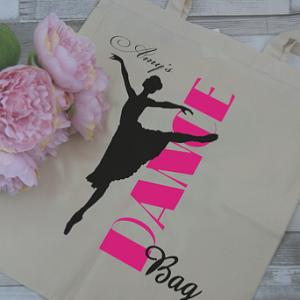 Personalised Dance Tote Bag