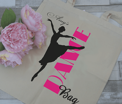 Personalised Dance Tote Bag