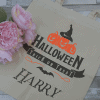 personalised trick or treat tote bag