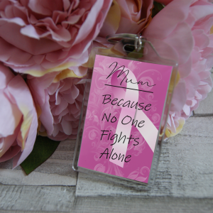 Personalised Breast Cancer Keyring