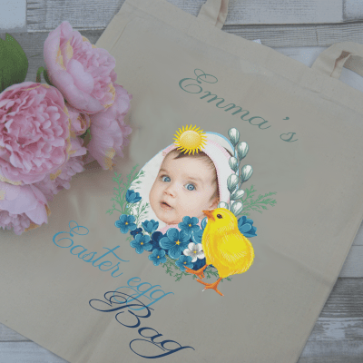 easter bag tote bag - chick
