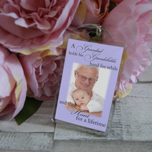 Personalised A Grandad Holds His Grandchilds Hand For A While And Their Heart For A Lifetime Keyring