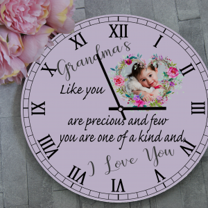 Personalised Grandma's Like You Wooden Clock