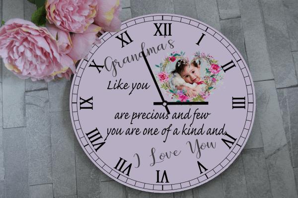 Personalised Grandma's Like You Wooden Clock