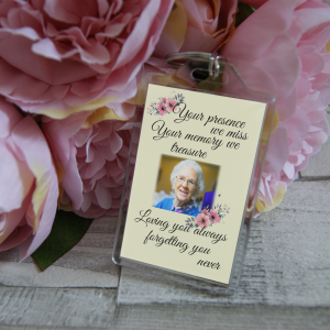 Personalised Your Presence We Miss Your Memory We Treasure Missing You Always Forgetting You Never Keyring