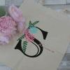 name vinyl tote bag