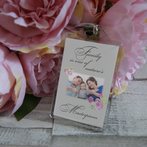 Personalised Family Is One Of Nature's Masterpieces Keyring