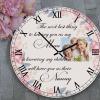 Personalised Grandparent Wooden Clock