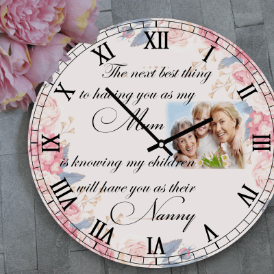 Personalised Grandparent Wooden Clock