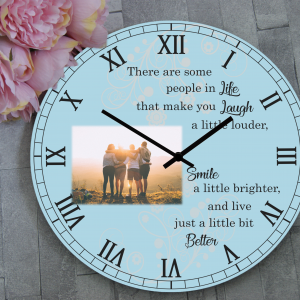 Personalised Some People In Life Wooden Clock