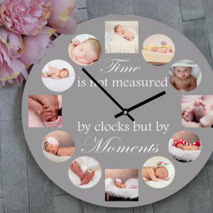 Personalised Time Is Not Measured By Clocks Wooden Clock