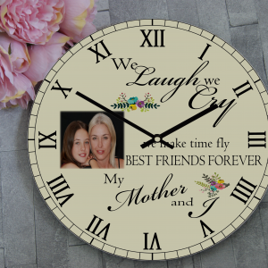 Personalised We Laugh We Cry Wooden Clock