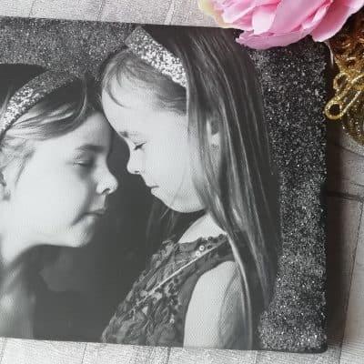 Personalised Diamond Dust Photo Canvas