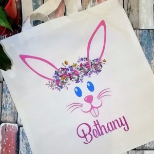 Personalised Easter Bunny Tote Bag
