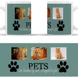 Personalised Pets are bundles of love wrapped in fur full wrap mug