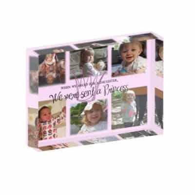 Personalised We Were Sent A Princess Crystal Block