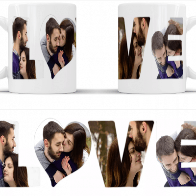 Personalised love photo mug