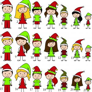 Christmas Stick Figures A