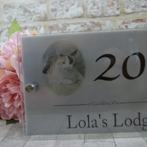 Personalised photo acrylic door sign