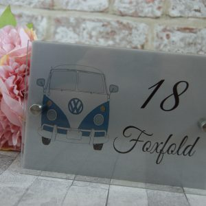 Personalised VW camper van acrylic door sign