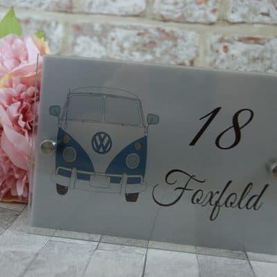 Personalised VW camper van acrylic door sign
