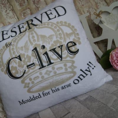 Personalised reserved cushion