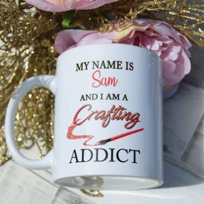 Personalised crafting addict mug