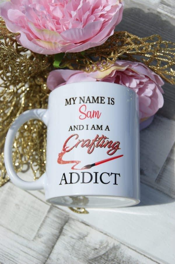 Personalised crafting addict mug