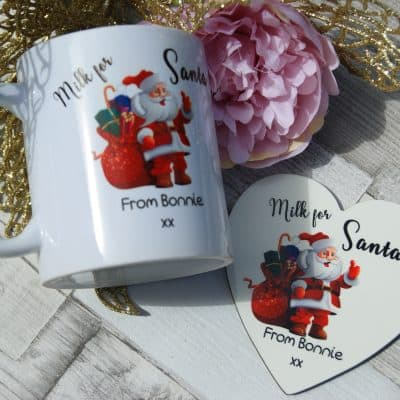 Personalised milk for santa mug