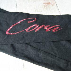 Personalised childrens glitter name leggings