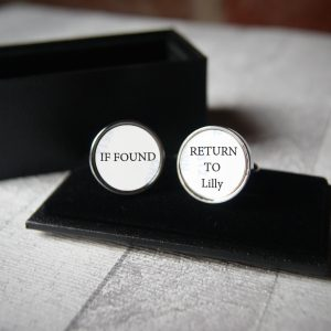 Personalised If Found Please Return Cufflinks