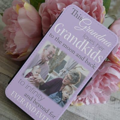 Personalised This Grandma Loves Her Grandkids PU Leather Phone Flip Case