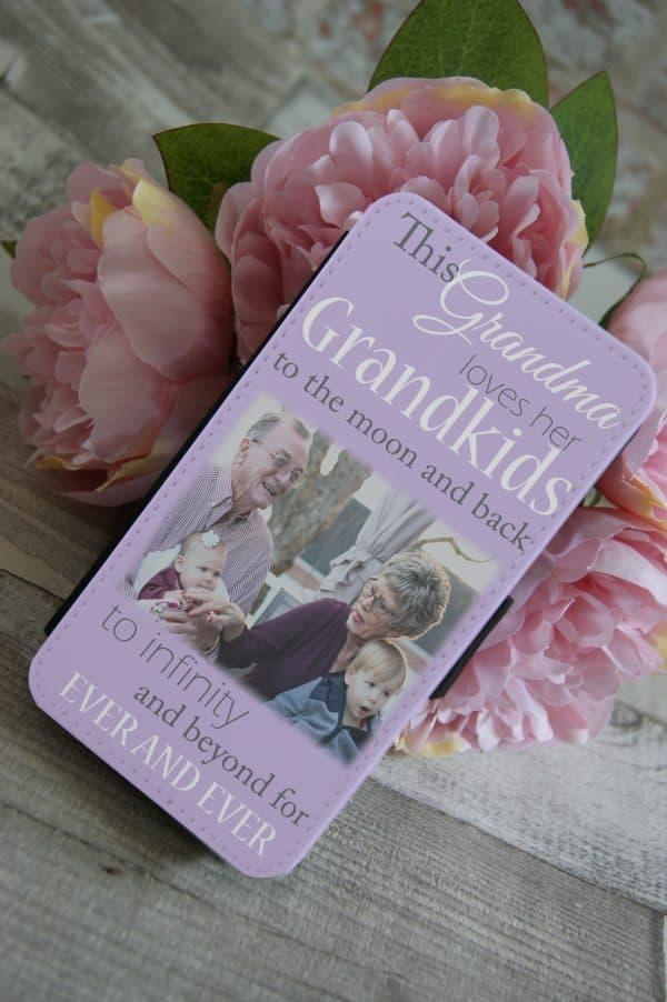 Personalised This Grandma Loves Her Grandkids PU Leather Phone Flip Case