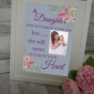 Personalised A Daughter May Outgrow Your Lap Design