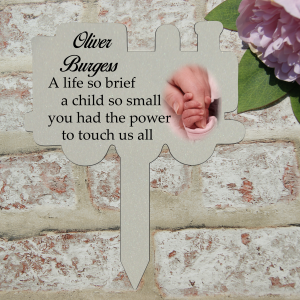 Personalised a life so brief grave/memorial marker