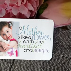 Personalised A Mother Is Like A Flower Aluminium Wallet Card