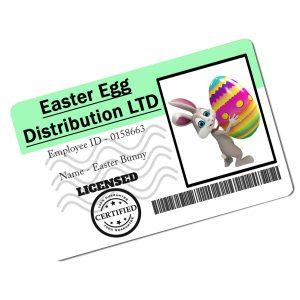 Aluminium Easter Bunny ID Card