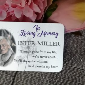 Personalised Aluminium In Loving Memory Wallet Card