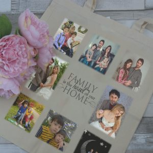 Personalised Family Heart Of The Home Tote Bag