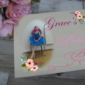 Personalised Ballet Wooden Box