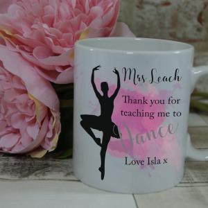 Personalised ballet teacher thank you mug