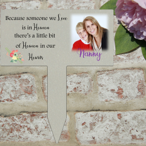 Personalised because someone we love is in heaven plaque grave/memorial marker