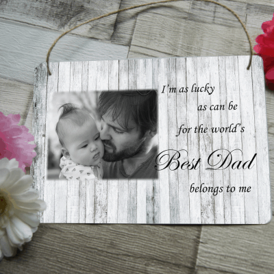 Personalised best dad hanging sign