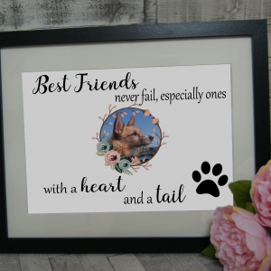 Personalised Best Friends Never Fail Design