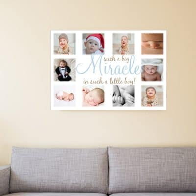 Such A Big Miracle In Such A Little Boy Design