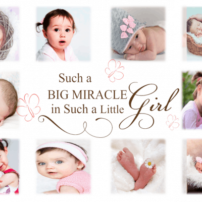 Personalised Such A Big Miracle In Such A Little Girl Design