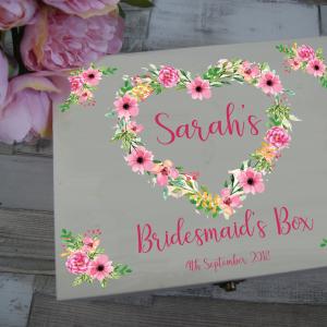 Personalised Bridesmaid Wooden Box