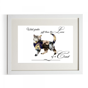 Personalised What Greater Gift Than The Love Of A Cat Design