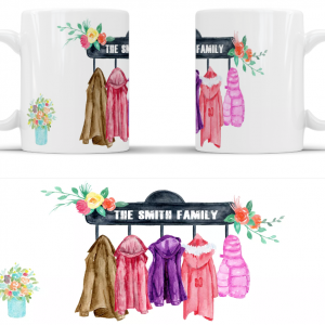 Personalised family coat mug